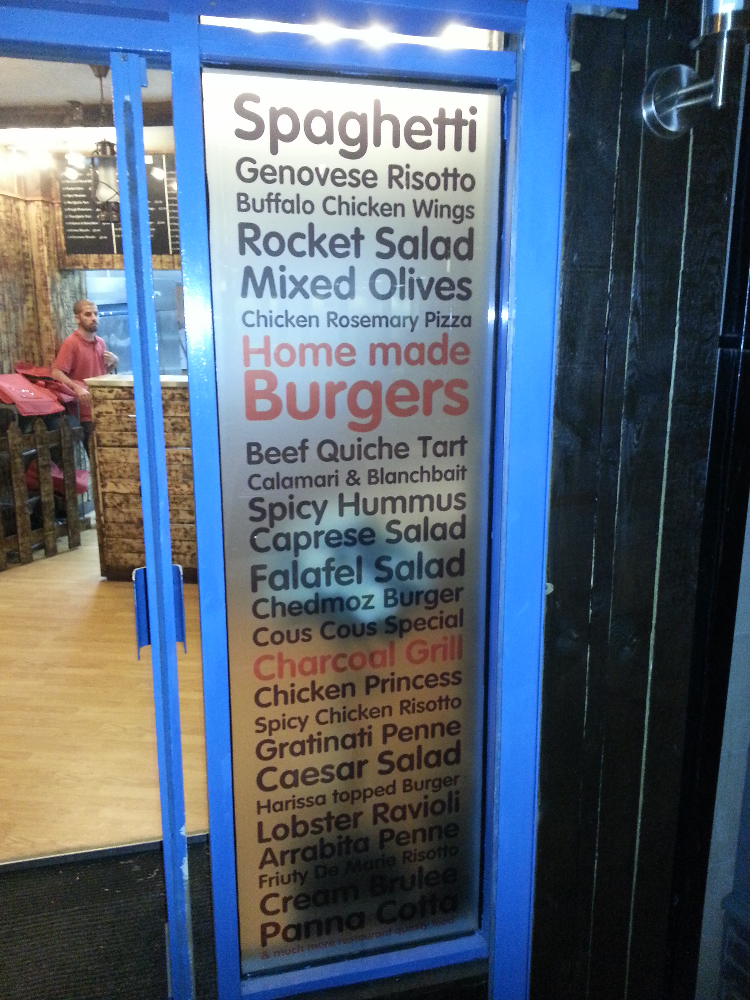 Chefway eccles takeaway window graphics