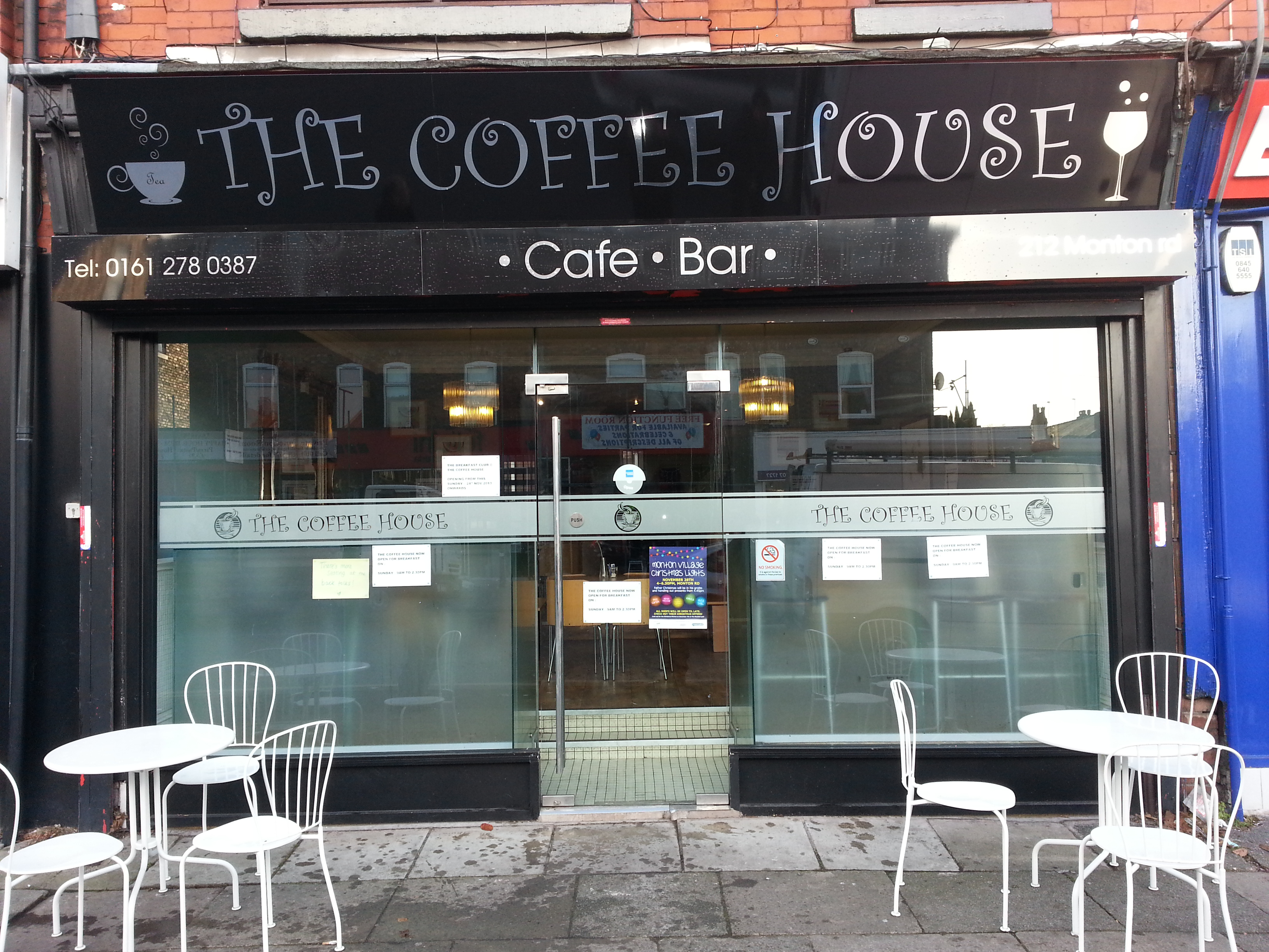Monton Coffee House Signage shop sign manchester