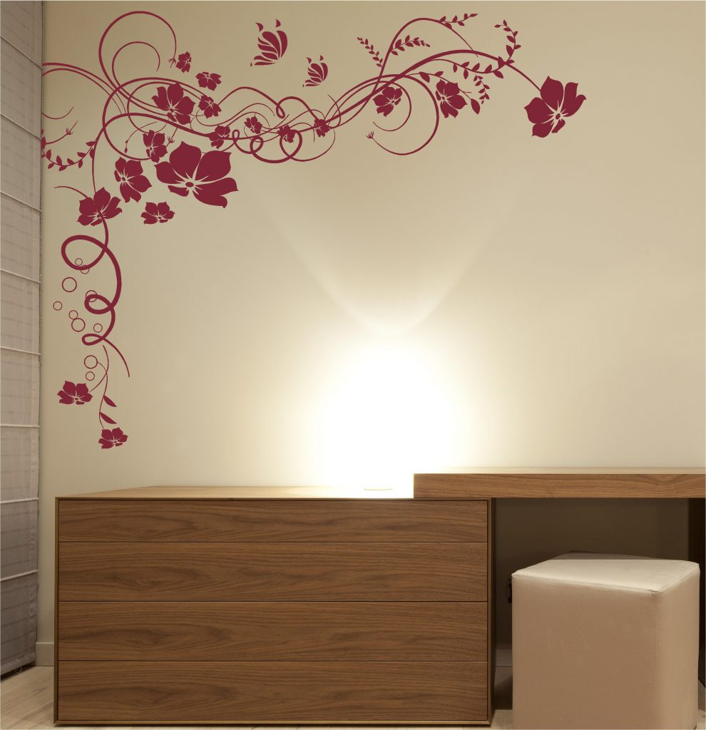 ... Vine Butterfly Swirl Wall Art Sticker Decal ...