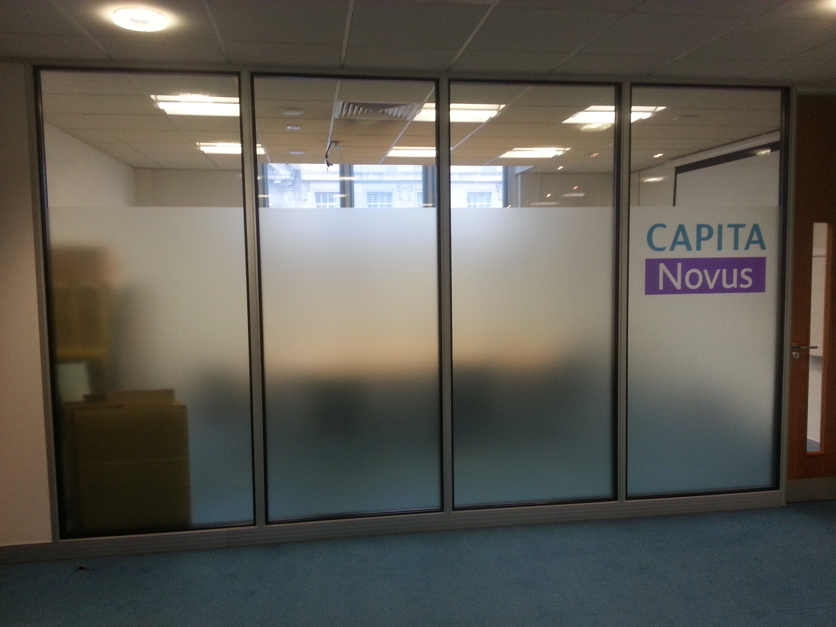Window graphics red parrot signs company manchester for Window frosting
