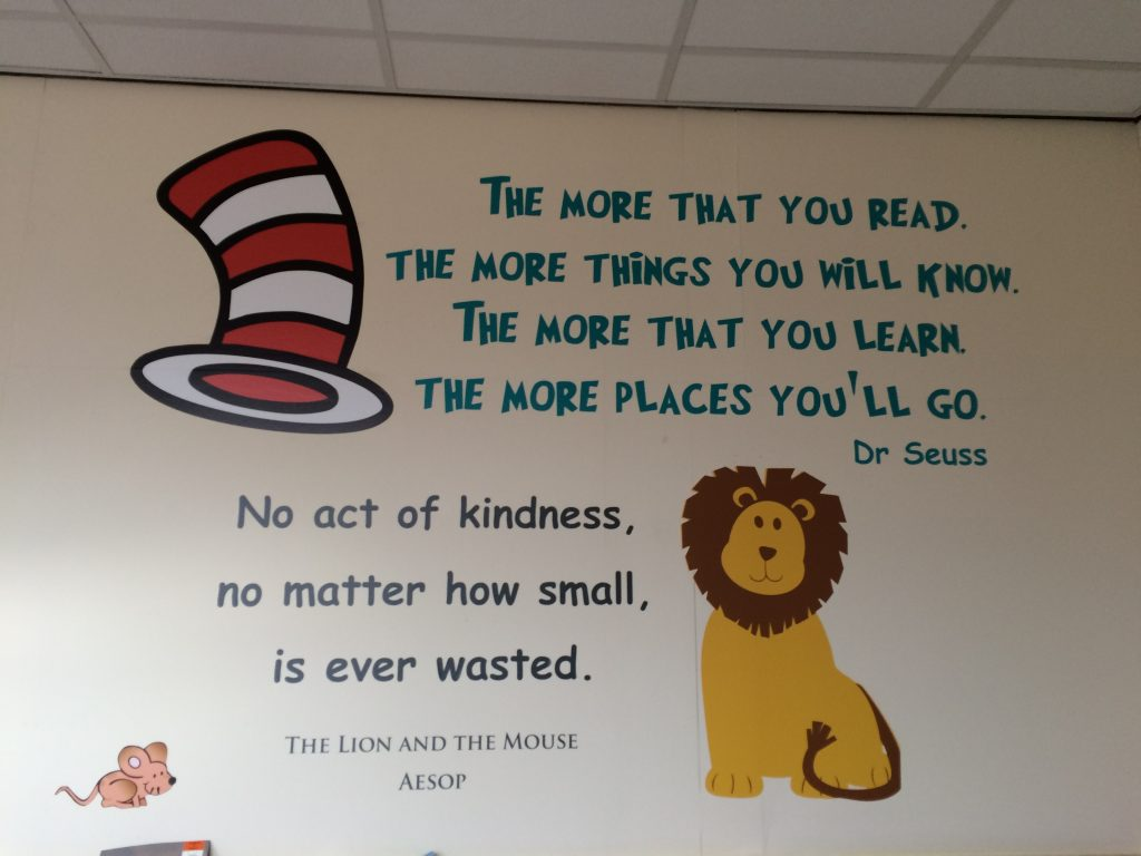 Wall Murals For Schools Wall Art Red Parrot Signs Company Manchester